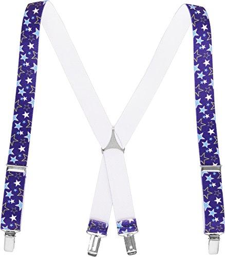 Playshoes Hosenträger Sterne Bretelles, Bleu (Blau 7), 75 (Taille Fabricant: 60 Centimeters) Mixte