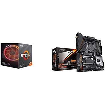 Amazon Com Amd Ryzen 7 3700x 8 Core 16 Thread Unlocked Desktop Processor With Wraith Prism Led Cooler With X570 Aorus Pro Wifi Gaming Motherboard Computers Accessories