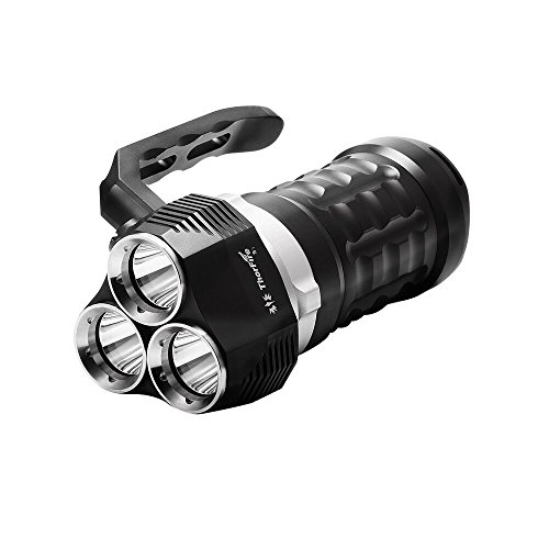 ThorFire Scuba Diving Flashlight 2000 Lumen IPX8 Waterproof Searchlight with 3 XPL LED Powerful Light Underwater 230ft Torch, Rechargeable 18650 Battery Not Included