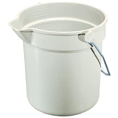 Impact 5510 Gray Deluxe Heavy-Duty Bucket, 10 qt Capacity, 10-1/4  Height x 10-5/8  Diameter
