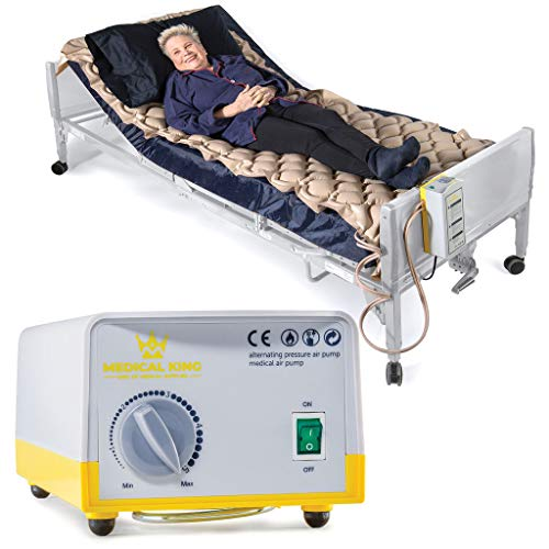 Air Mattress for Hospital Bed Or Home Bed, Includes Electric Quiet Air Pump - Medical Air Mattress, Low Air Loss Mattress - Inflatable Comfortable Pads - Prevents & Treat Pressure Wounds, Sore, Ulcer