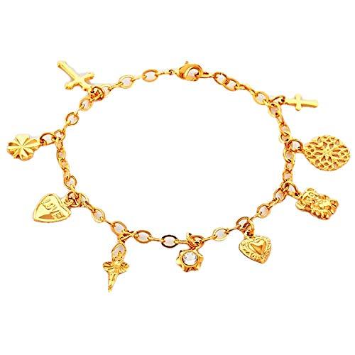 FIA MONETTI armband - goud - bedelarmband - in een geschenkdoos!