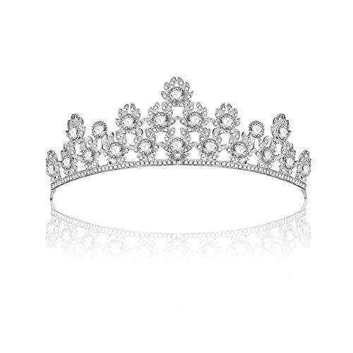 Funihut Royal Bruiloft, kroon, kristal, optoon, verjaardag, tiara, gala, bruid, kapsel, vrouwen, prinses haaraccessoires