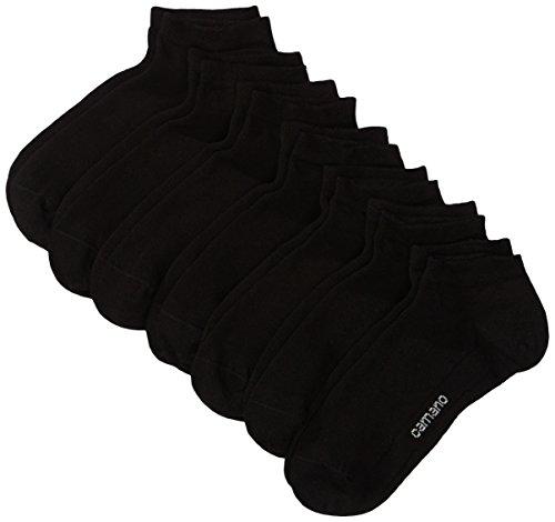 Camano Herren 3003 Ca-Soft Sneaker 7 Paar Sneakersocken, Schwarz (Black 05), (Herstellergröße: 43/46) (7er Pack)