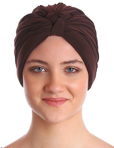 Deresina Headwear Deresina Headwear W-Stil Pilssiert Turban für Haarverlust (Braun)