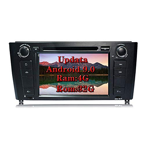 XISEDO Android 8.0 Autoradio In-dash 1 Din Car Radio 7 Pollici Car Stereo 8-Core RAM 4G ROM 32G Navigatore GPS con Schermo di Tocco per BMW 1 Series-E81/E82/E88 2004-2010 (Autoradio)