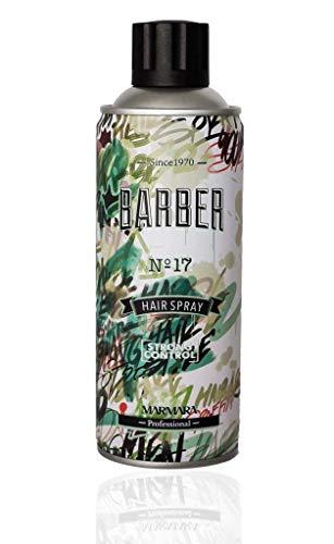 Marmara Barber Hair Spray Nr.17 Strong Hold Extra Volumen 400ml Haarspray Friseurbedarf Haar Styling für alle Haartypen Hairspray für Damen und Herren Ultra Strong Hold Control Haarlack