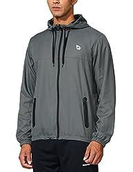 cheap BALEAF Men's Sports Windbreaker Jogging  Training Jacket Lightweight Waterproof Jacket…