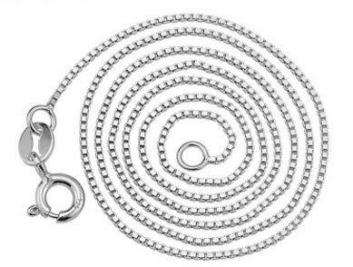 Chilits Cadena italiana gruesa de 1 mm, cadena de plata hipoalergénica, resistente al deslustre, collar italiano, accesorio de joyería para cumpleaños, día de San Valentín, regalo de aniversario