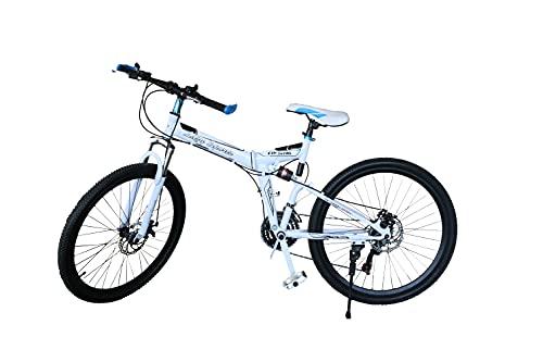 LAZY SPORTS Bicicleta Montaña Plegable con Aluminio Reforzado Ligero (Blanco)