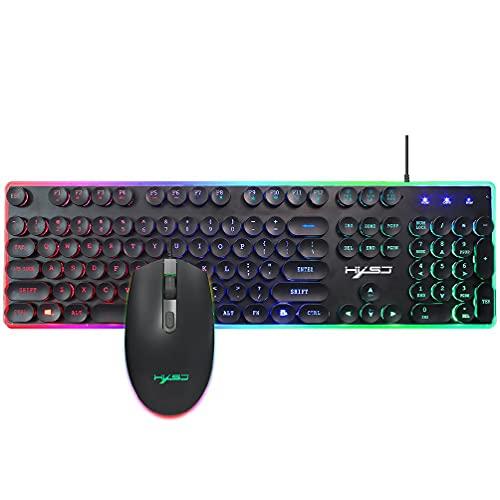 V300 ruso retroiluminado teclado de juegos RGB teclado dedicado multimedia teclas y dial clásico negro RGB retroiluminado