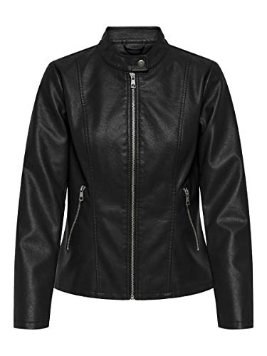 Only ONLMELISA Faux Leather Jacket CC OTW Chaqueta, Black, S para Mujer