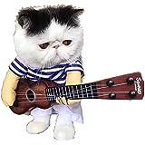 (スタアナ)staana 犬 犬服 ギター 二足歩行 コスチューム 変身 コスプレ 変装 面白い ドッグウエア 小型犬用 猫用 (S)
