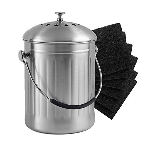 Stronrive Filter für Komposteimer Kompost Filter Küche Kompost Komposteimer Filter Aktivkohlefilter von rund und quadratisch