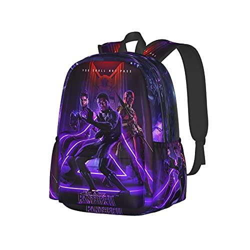 Unisex Schulrucksack Taschen 3D Druck Chad_Wick Poster Bose_Man Lustig Wandern Reisen Rucksack Laptop Daypacks, Schwarz 4, One size