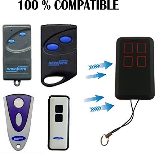 Afstandsbediening voor garage, 100% compatibel met Novoferm