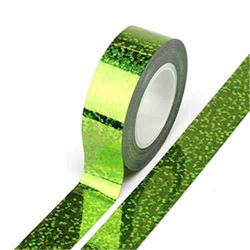 Phosphor-Laser-Tape, hohe Festigkeit, selbstklebend, kleine Rolle, für Schreibwaren, Büro, Laserklebeband, Gaze + Baumwolltuch, grün, 0.6*197IN