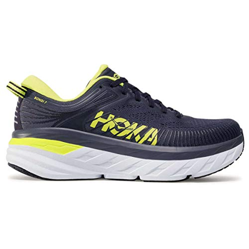HOKA ONE ONE Men's Bondi 7 Running Shoes Odyssey Grey/Deep Well 9.5 M US