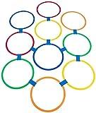 Canasta de Baloncesto Rayuela Juego del Anillo -10-Colorido Anillos de plástico de plástico (11 Pulgadas) y 10 Conectores for los niños de 3 años o Menos Deportes y Entretenimiento