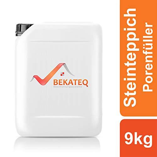 BEKATEQ BK-640EP Steinteppich Porenfüller, 9kg farblos, 2K Epoxidharz Porenverschluss Steinboden Schutz