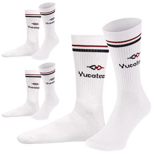 REFLEXX YUCATECA Tennissocken Damen und Herren aus Bio Baumwolle. Die besondere Yucateca Kollektion - (3er Rot, numeric_43)