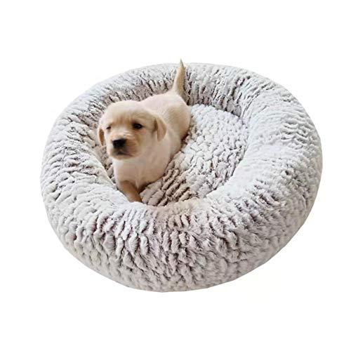 Hondenmand donut, deluxe ronde zachte pluche wasbare warme grote middelgrote kleine golden retriever teddy kattenbank die diepe slaap verbetert