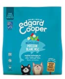 Edgard & Cooper, Nourriture Chat Croquette sans Cereales 100% Naturelle Hypoallergénique, Sachet Adulte Poisson Blanc MSC Frais 1,75g Alimentation équilibrée complète Saine de qualité