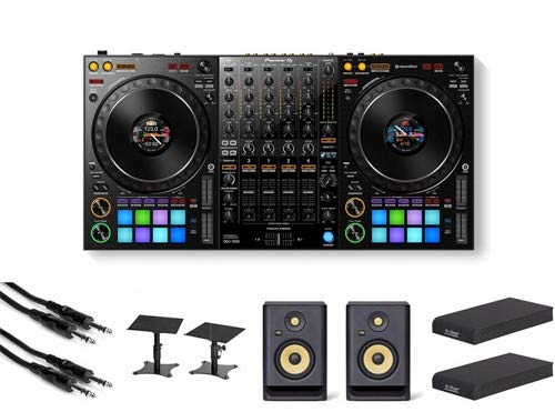 Pioneer DDJ-1000 DJ Controller with Stands, Isolation Pads, Speakers, and Cables
