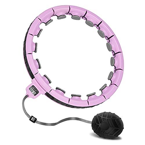 Tismell Smart Hula Reifen Hoop für Erwachsene Kinder, Weighted Hoops Reifen zum Abnehmen für Gewichtsverlust Massage, Fitness Sportgeräte für Anfänger Professiona Upgraded 1.5KG-Rosa