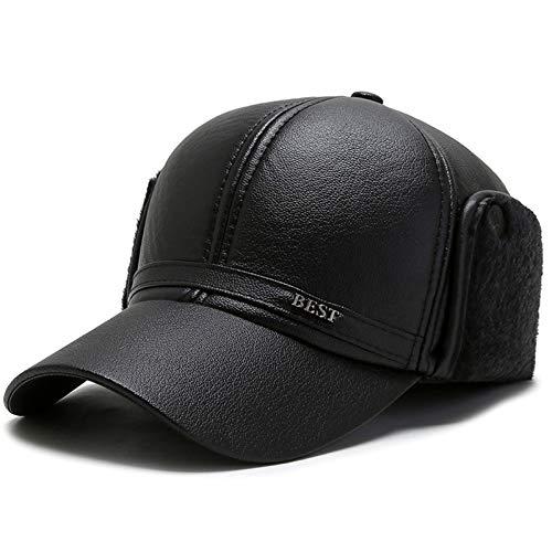 XMSIA Sombrero Plano para Hombre Carreras clsicas de Hiedra de los Hombres con Gorras Planas Invierno a Prueba de Viento panaderas Caps de Boina de Peridicos (Color : Black, Size : Medium)