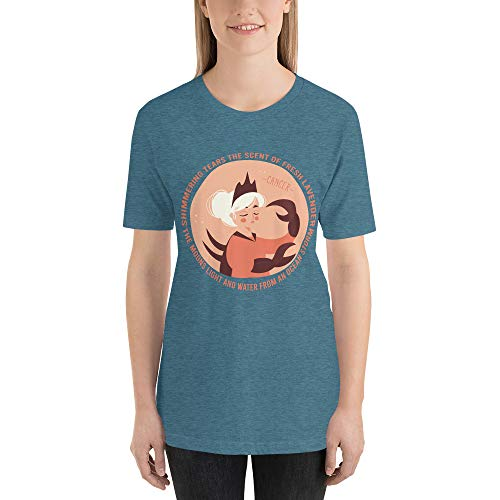 Chameleon Living Geburtstagsgeschenk für Sternzeichen Juni & Juli | Sternzeichen Geschenke für die Astrologie Zeichen Krebs T-Shirt Design Gr. XL, Heidekraut