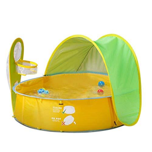 QUUY Pop-Up-Baby strandtent met zwembad, draagbare uv-bescherming, zonwering, kinderen, ballenbad spelen, indoor, outdoor, strand, canopy, tent voor baby's en kinderen