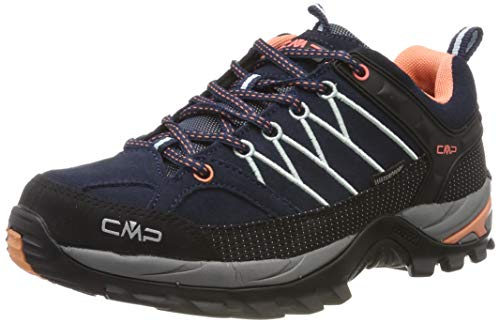 CMP Damen Rigel Low Wmn Shoes Wp Trekking- & Wanderhalbschuhe, Blau (B.Blue-Giada-Peach 92ad), 41 EU