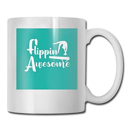 haoqianyanbaihuodian Flippin Awesome - Vasos de cerámica para mujer (330 ml)