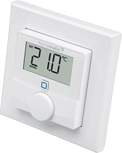 Preisvergleich Produktbild Homematic IP Smart Home Wandthermostat mit Luftfeuchtigkeitssensor intelligente Heizungssteuerung per App und Amazon Alexa,  143159A0