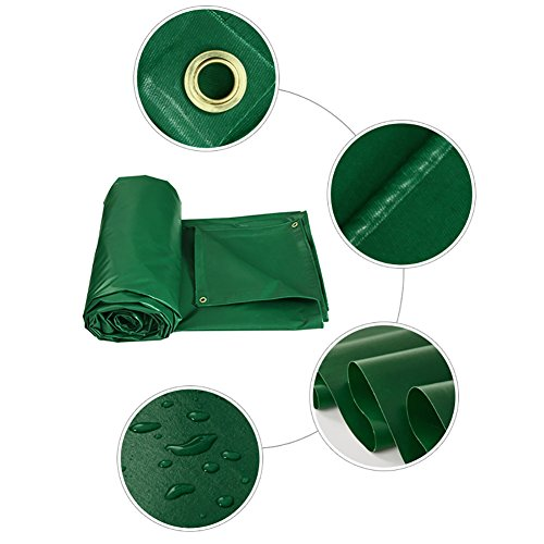 HQCC Tente d'épissure Auvent pare-soleil Bâche résistante à la pluie double face imperméable à la pluie Couvre-bâche couvre-sol en toile vert, 450 G/M² (taille : 3 * 3m)