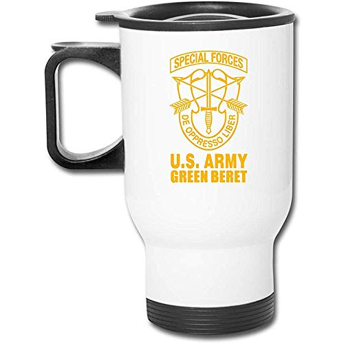 Mike-Shop US Army Green Baskenmütze Special Forces Auto Cup Travel Kaffeebecher Edelstahl Travel Cup