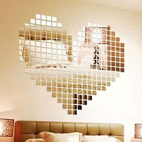 BLOUR 100 Stück Spiegelfliese Beliebte DIY Wandaufkleber 3D-Aufkleber Mosaik Haus Home Room Decoration Stick für Moderne Räume Drop Shipping