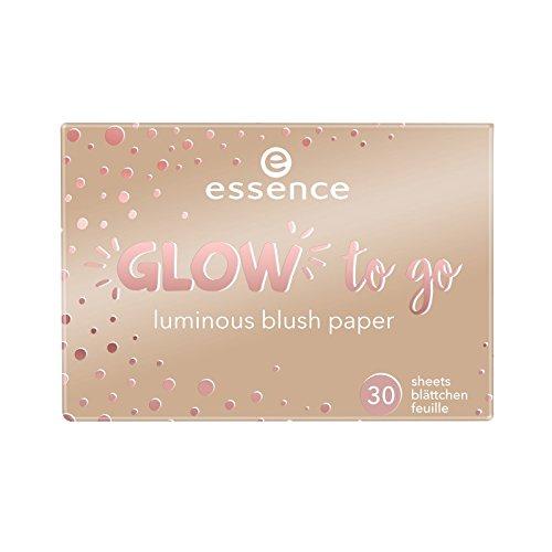 essence glow to go luminous blush paper 20
