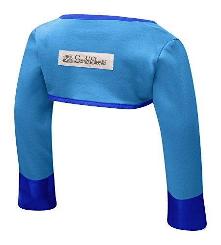 ScratchSleeves | Kratzhandschuhe mit Ärmeln für juckreizgeplagte Babys und Kleinkinder | Blau | 9-12m