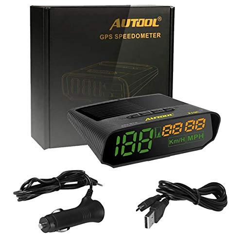 Autool X100 - Velocímetro GPS HUD para coche, medidor digital de velocidad, alarma de fatiga, conducir, multifunción, instrumento auxiliar para todos los vehículos