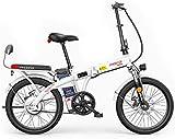 MQJ Ebikes Bicicletas Eléctricas Plegables para Adultos, 3 Modos de Trabajo, Batería Máxima de 25 Km/H, Batería de Iones de Litio 48V, Carga Máxima de 150 Kg, Bicicleta Electrónica Ecológica para e