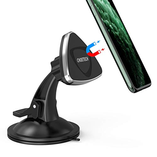 Supporto Auto Smartphone, CHOETECH Supporto Auto Universale per Cruscotto e Parabrezza Auto Rotazione 360°Supporto a Ventosa per iPhone 11/ X/ XR, Samsung Galaxy S10/S9/S8/S7, Moto, LG, HTC e altri