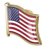 1pc Drapeau Américain Pin Badge En Métal Émail Épinglette Broche Usa...