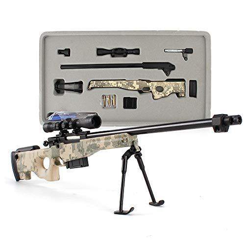 Fantarea 1/3 Metal Alloy Guns Model Figures Gun Miniature Figurine Army Military Imitate Education Learning Toys Fit for Sniper-Rifle