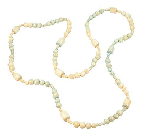 Damstone Halskette Valeria aus Holz Farbe Natur Pastell Länge 110cm