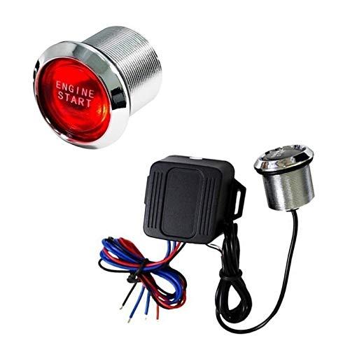 Botón De Arranque, Iluminación LED, Entrada Sin Llave Fresca Automática, Botón De Encendido del Motor del Coche Azul Talla única