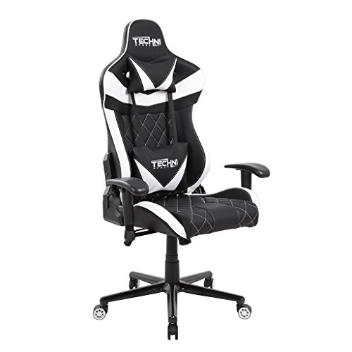 Techni Sport Gaming Chair Collection TS-XL1- Ergonomic High Back Racer - Style PC Gaming Chair, Office Chair - (TSXL1, White)