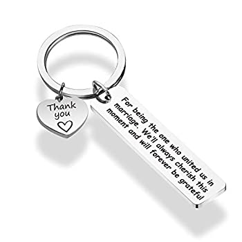 WENATA Thank You Gifts Wedding Officiant Keychain For being the One Who United Us in Marriage Keyring Bridal Party Gift Wedding Coordinator Photographer Gift  United in Marriage KR