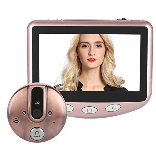 Ashata - Mirilla digital para puerta (720p, HD, pantalla LCD de 4,3 pulgadas, WiFi, cámara inalámbrica de 1 MP, visión nocturna por infrarrojos)
